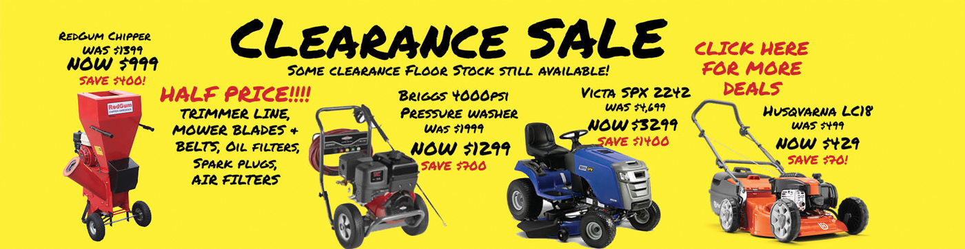 mower clearance best price