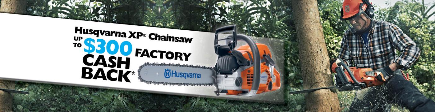 Husqvarna XP Chainsaw upto $300 Factory CashBack