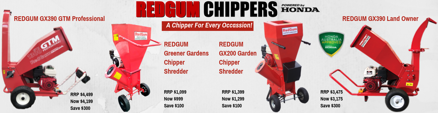 Save $200 on Redgum Chipper
