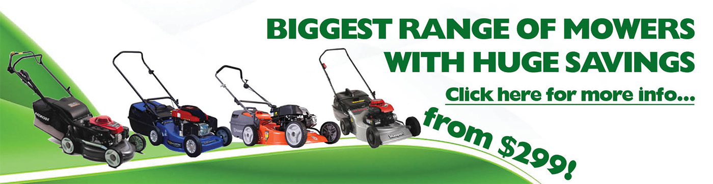 Buy now and save lots of money on Lawn Mowers