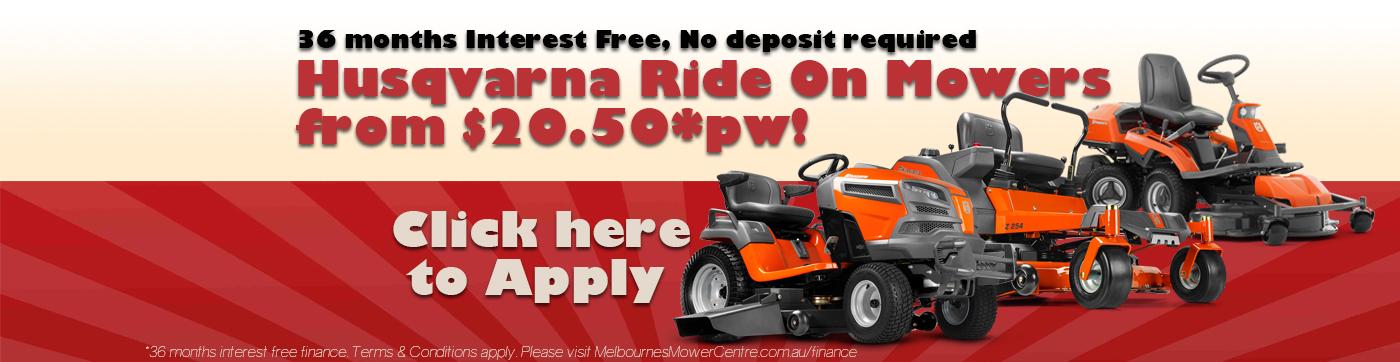 Husqvarna Ride On Mowers starting from $20.50*pw!