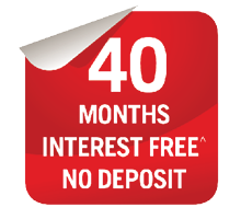 40 Months Interest Free Offer