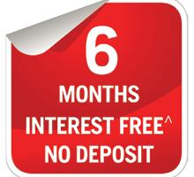 6 Months Interest Free Offer